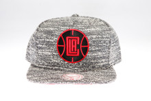 LA Clippers Grey Static Arch Mitchell & Ness Snapback Hat