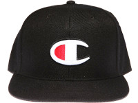 "Champion ""C"" Logo Black Snapback Hat"