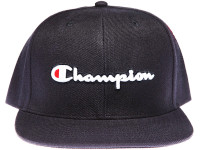 Champion Script Navy Snapback Hat