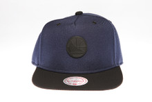 Golden State Warriors Two-tone Badge Logo Mitchell & Ness Snapback Hat