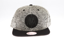 LA Clippers Two-tone Grey Static Marble Logo Mitchell & Ness Snapback Hat