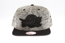 Cleveland Cavaliers Two-tone Grey Static Marble Logo Mitchell & Ness Snapback Hat