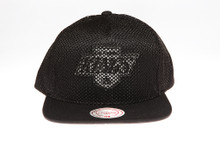 LA Kings Blackout Mesh Overlay Logo Mitchell & Ness Snapback Hat