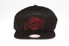 Cleveland Cavaliers Black Mesh Overlay Logo Mitchell & Ness Snapback Hat