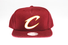 Cleveland Cavaliers Logo Flannel Mitchell & Ness Snapback Hat