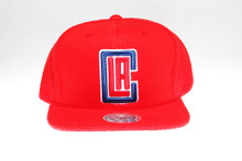 LA Clippers Logo Flannel Mitchell & Ness Snapback Hat