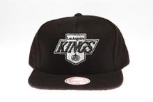 LA Kings Logo Flannel Mitchell & Ness Snapback Hat