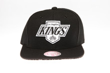 LA Kings Blackout Logo Graphic Underbrim Mitchell & Ness Snapback Hat