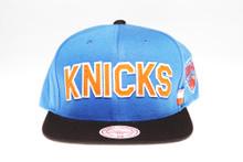 NY Knicks Block Script Arch Mitchell & Ness Snapback Hat