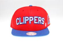 LA Clippers Block Script Arch Mitchell & Ness Snapback Hat
