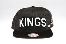 LA Kings Block Script Arch Mitchell & Ness Snapback Hat