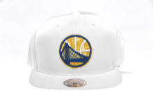 Golden State Warriors Whiteout Logo Arch Mitchell & Ness Snapback Hat