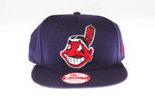 Cleveland Indians Blue New Era 9FIFTY MLB Snapback Hat