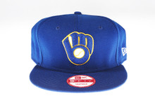 Milwaukee Brewers Glove Blue New Era 9FIFTY MLB Snapback Hat