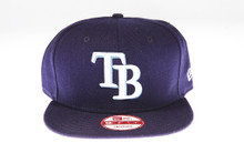 Tampa Bay Rays Logo Blue New Era 9Fifty Snapback Hat