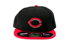 Cincinnati Reds - Black Fitted Cap