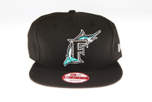 Florida Marlins Black New Era 9Fifty MLB Snapback Hat