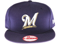 Milwaukee Brewers Alt Logo Dark Blue New Era 9FIFTY MLB Snapback Hat