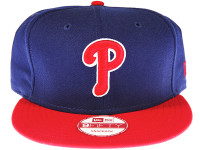 Philadelphia Phillies 2-Tone Blue and Red New Era 9FIFTY MLB Snapback Hat