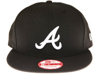 Atlanta Braves Black New Era 9FIFTY MLB Snapback Hat