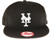 New York Mets Black New Era 9FIFTY MLB Snapback Hat