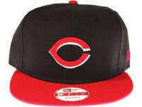 Cincinnati Reds 2-Tone Black and Red New Era 9FIFTY MLB Snapback Hat