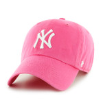 New York Yankee Pink 47Brand MLB Strapback Clean Up Hat