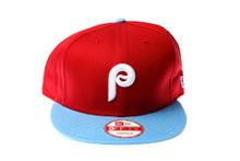 Philadelphia Phillies Logo New Era Maroon Snapback Hat