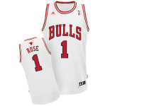 Chicago Bulls Derick Rose White Adidas Swingman Jersey