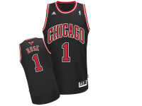 Chicago Bulls Derick Rose Black Adidas Swingman Jersey