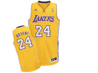 Los Angeles Lakers Kobe Bryant Yellow Adidas Swingman Jersey