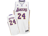 Los Angeles Lakers Kobe Bryant White Adidas Swingman Jersey