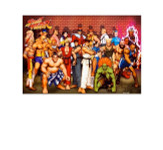 Street Fighter Group Blockmount Wall Hanger
