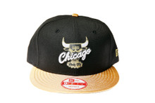 Chicago Bulls Gold Logo New Era Snapback Hat