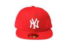 New York Yankees Red Logo New Era 59FIFTY Fitted Cap