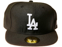 Los Angeles Dodgers Logo New Era Black 59FIFTY Fitted Cap