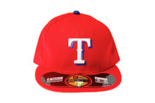 Texas Rangers Logo New Era 59FIFTY Red Fitted Cap