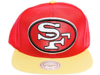 San Francisco 49ers XL Logo Mitchell & Ness Snapback Hat
