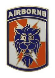 35th Signal Brigade with Tab Combat Service Identification Badge (CSIB)