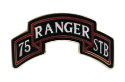 75th Ranger Special Troops Battalion Scroll Combat Service Identification Badge (CSIB)
