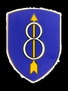 8th Infantry Division Combat Service Identification Badge (CSIB)