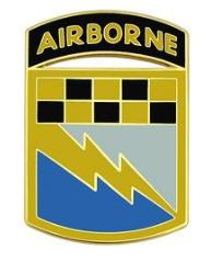 525th Battlefield Surveillance Brigade with Tab Combat Service Identification Badge (CSIB)