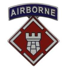 20th Engineer with Tab Brigade Combat Service Identification Badge (CSIB)