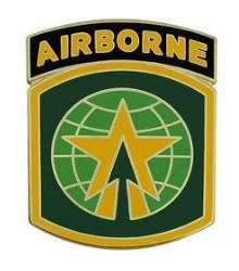 16th Military Police  with Airborne Tab Combat Service Identification Badge (CSIB)