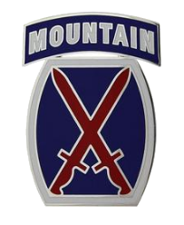 10th Mountain Division Combat Service Identification Badge (CSIB)