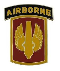 18th Fire Brigade with Tab Combat Service Identification Badge (CSIB)