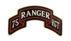 75th Ranger Regiment Scroll Combat Service Identification Badge (CSIB)