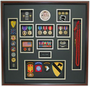 "27"" x 28"" US Army Shadow Box Display"