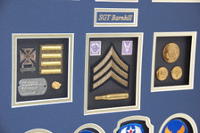 Rank, Qualification Badge, Brass, Shell Casing, Stamps, ID, Overseas Patch