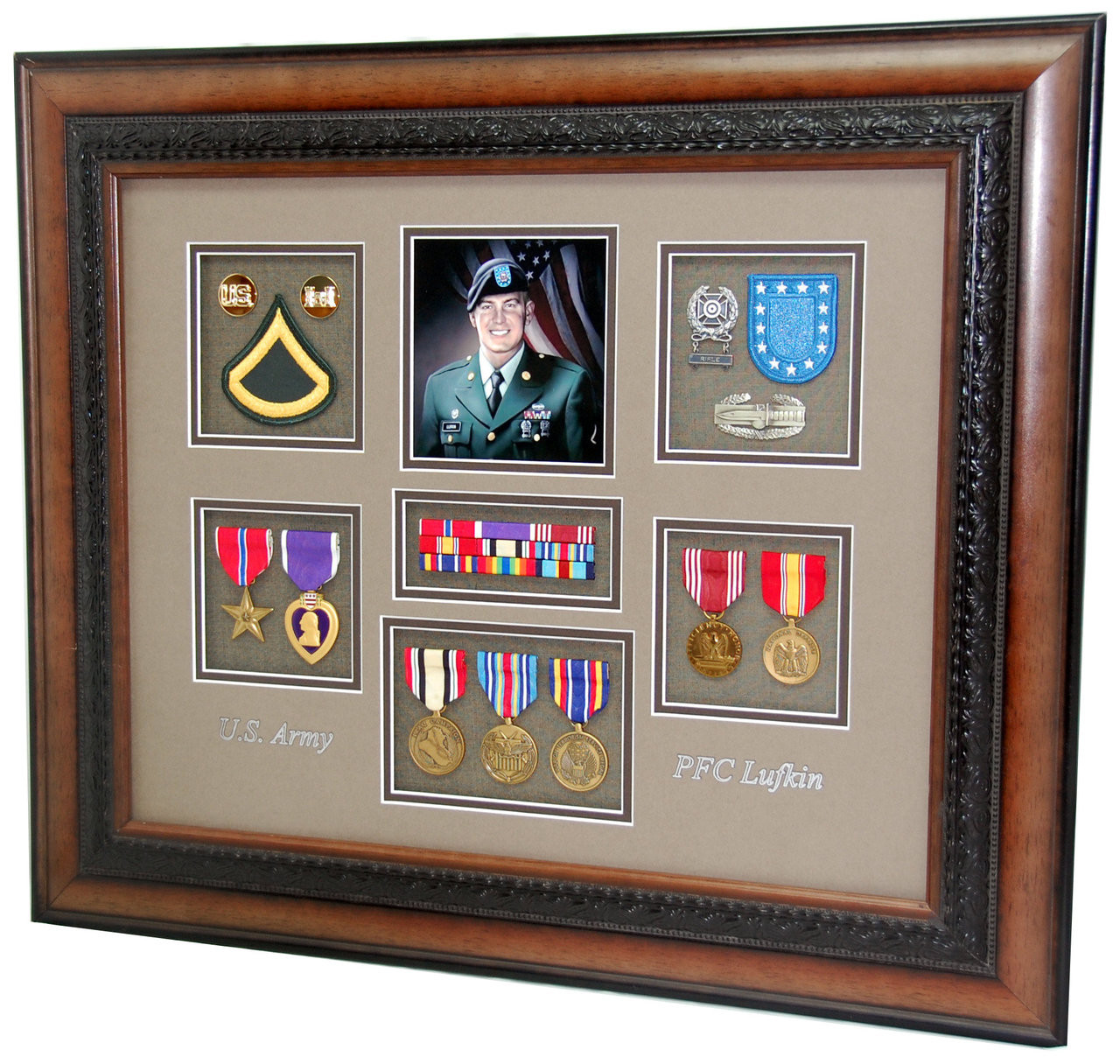 US Army Engineer Shadow Box - Military Memories and More